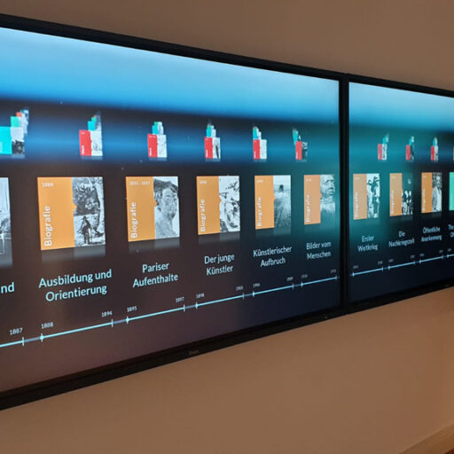 interactive content timeline museum touchscreen